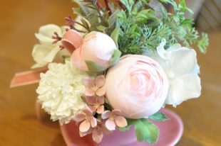 【ペットお供え・手元供養】バラ・ピンク系・いままでありがとう