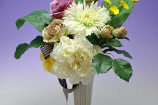 【高品質造花お供え花】シャクヤク&ガーベラ・清廉